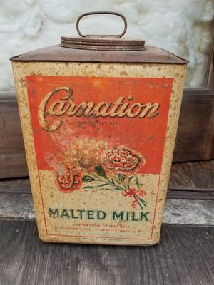 Antique Carnation Malted Milk Can for Sale in Tacoma, WA