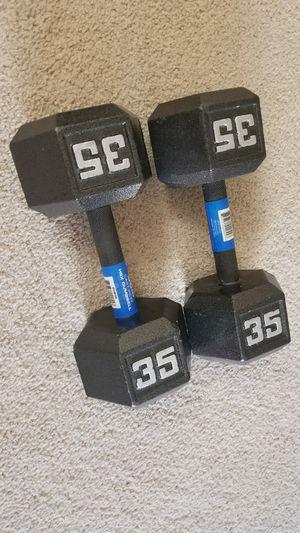 35 lbs weights - dumbbells for Sale in Arlington, VA