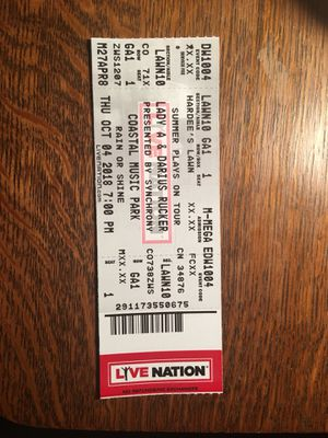 Concert ticket for Sale in Cary, NC