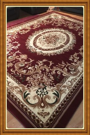 Turkish area rug size 8x11 nice red carpet Persian style rugs for Sale in Burke, VA