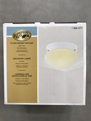 White glass light fixture for Sale in Great Falls, VA