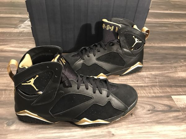 2012 Nike Air Jordan 7 Retro Black Gold GMP Golden Moments Pack VII Sz 13  DMP 4551883ddb