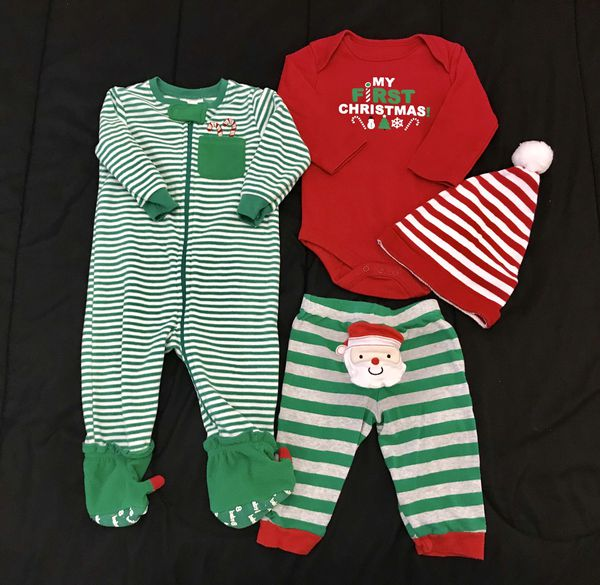 9eeaeac0c BABY XMAS CLOTHES / BABY CLOTHES / SIZE 6/9 MONTHS 4 PCS BUNDLE / PICK UP  ONLY for Sale in Hialeah, FL - OfferUp