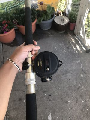 df101f5db75 Shimano TLD 20 trolling reel with Seeker 660H custom all roller guides  fishing rod. $200
