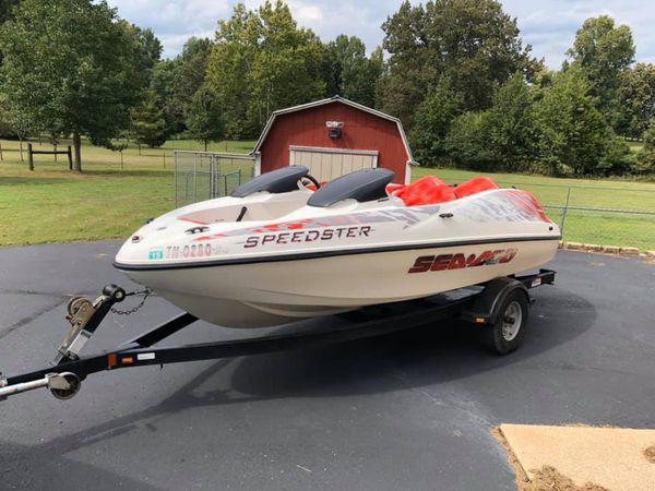 1998 seadoo speedster 16� boat with trailer.