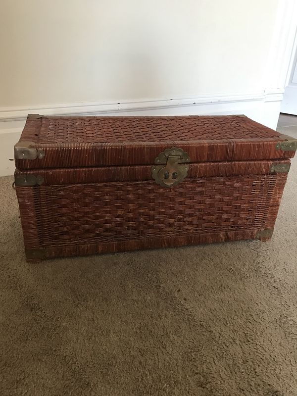 Antique wicker toy/storage chest (Furniture) in Alameda, CA - OfferUp