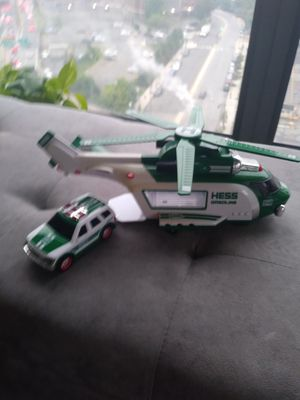 Hess collectibles - helicopter w/ car for Sale in Boston, MA
