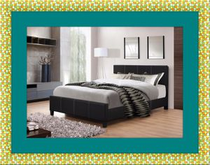 Full platform bed with free box spring and delivery for Sale in Ashburn, VA