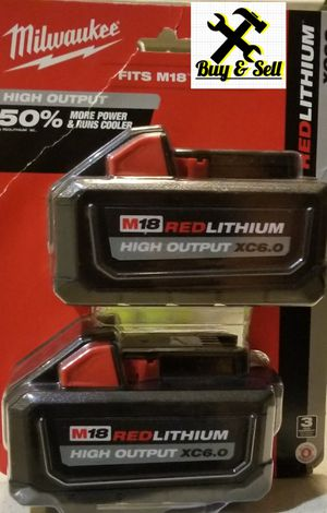 Milwaukee M18 red lithium high output HD 6.0 batteries for Sale in Long Beach, CA