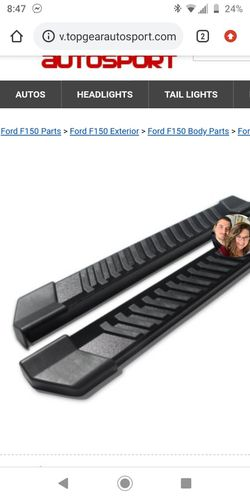 2015 2016 2017 2018 2019 Ford f150 gently used set of running boards/ side steps Thumbnail