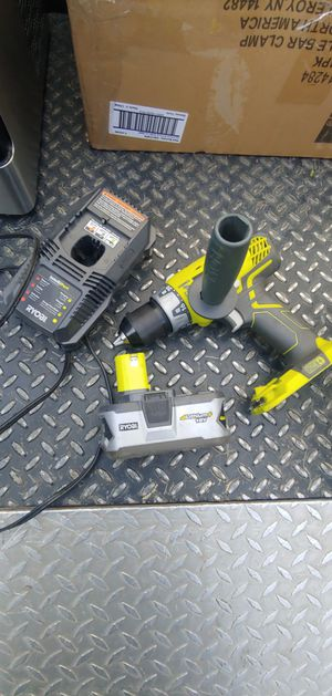 Photo In Excellent Condition!!! 18 volt Ryobi Hammer Drill 4.0ah Battery and Charger 4.0ah Battery alone is 75 with Taxes!!! Retails for$175 with Taxes!!!