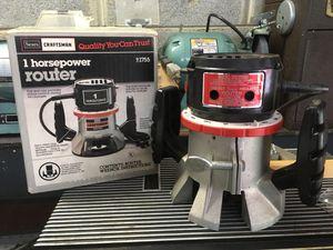 Router, Sears Craftsman 1 hp for Sale in Oakton, VA
