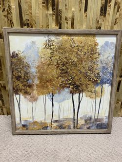 Gold Accent Tree Wrapped Canvas Thumbnail