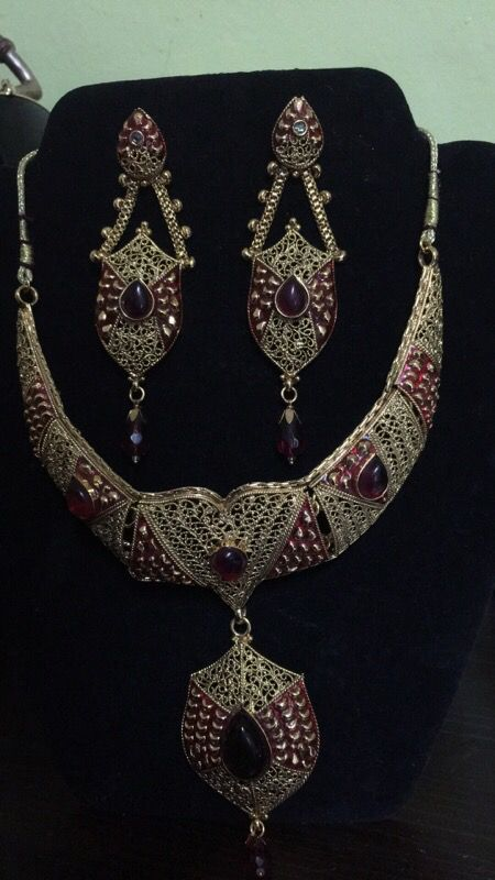 Gold plated Jewelry sets with Meena work Big
