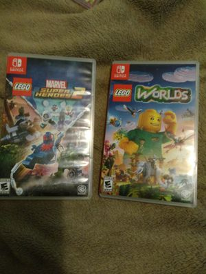 Nintendo Switch Lego Marvel super Heroes 2 and Lego World's (2 games for $20) for Sale in Baltimore, MD