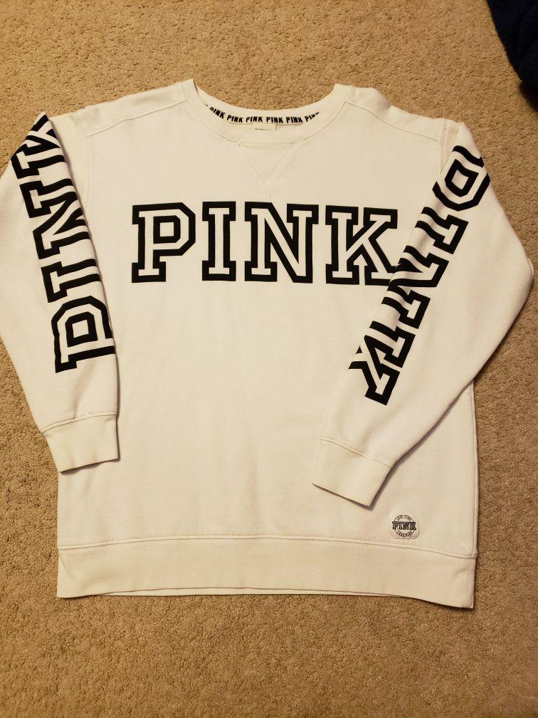 VS Pink Crewneck Small