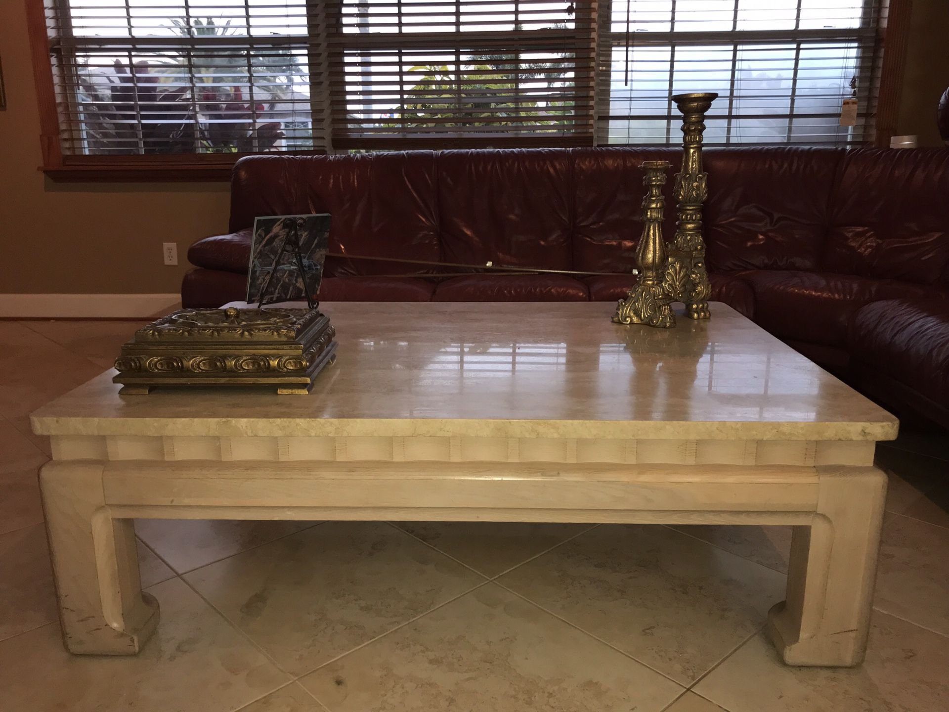 Coffe table marble top tomasville