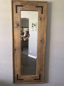 Handmade wood mirror Thumbnail