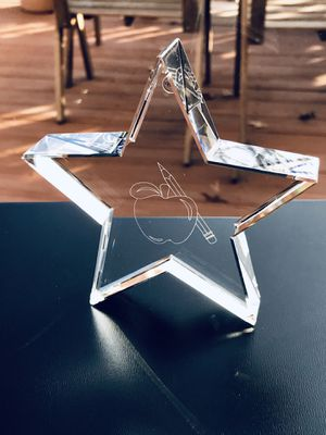 Engraved Glass Star with Padded Gift Box for Sale in Leesburg, VA