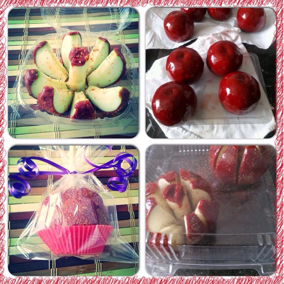 chocolate and chamoy apple