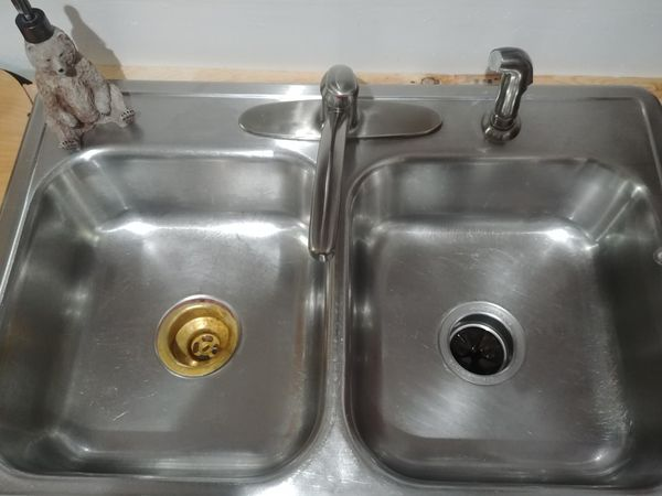 Stainless Steel Double Kitchen Sink and Faucet for Sale in Colorado ...