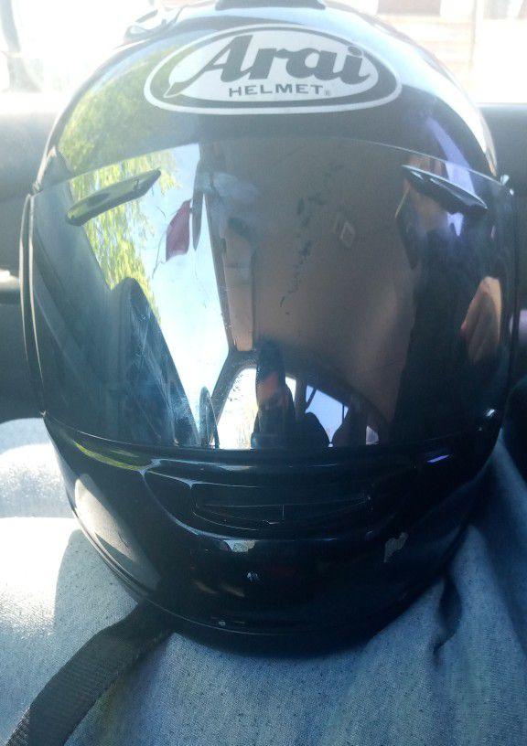 Photo 2009 Lance Motorcycle With Tinted Arai Helmet