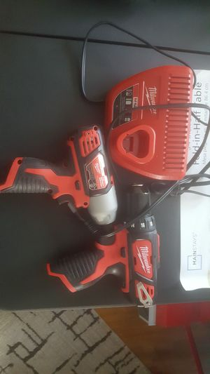 Brand new Milwaukee drill and impact gun for Sale in Washington, DC