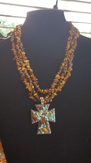 Tiger Eye and Turquoise Necklace for Sale in Portland, OR