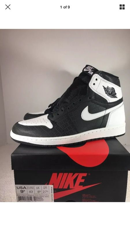 new product e2a6b 5bbf4 Nike Air Jordan 1 Retro Derek Jeter Re2spect Black/White New for Sale in  High Point, NC - OfferUp