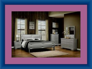 11pc grey Marley bedroom set with mattress for Sale in Adelphi, MD