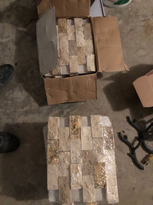 Nice Mix Split Face Mosaic Tile 25 Pieces For Sale In