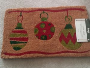 """Christmas Ornaments"" Coir Welcome Doormat for Sale in Gaithersburg, MD"