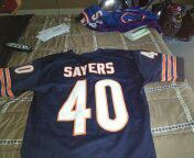 New ALL sewn numbers and letters Chicago bears Gale sayers jersey size large for Sale in Philadelphia, PA