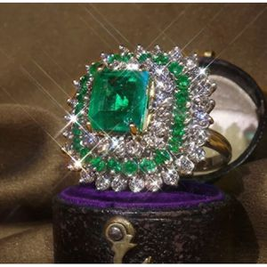925 sterling silver plated emerald ring women's jewelry accessory Christmas gift for Sale in Silver Spring, MD