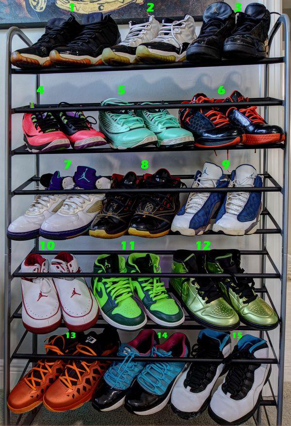 half off a6bcd e7ca0 Nike Air Jordan Collection 15 Pair   Retro  Jordan I,II,V,VI ,X,XI,XIII,XVI.5,XX