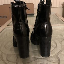 Combat Boots With Heel Thumbnail