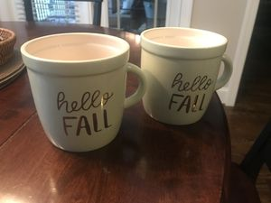 Hello fall mugs set of 2 new for Sale in Raleigh, NC