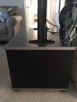 Black & Grey Wood 3ft. By 2ft. TV Stand Thumbnail