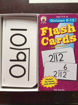 Division Flash Cards for Sale in Centreville, VA