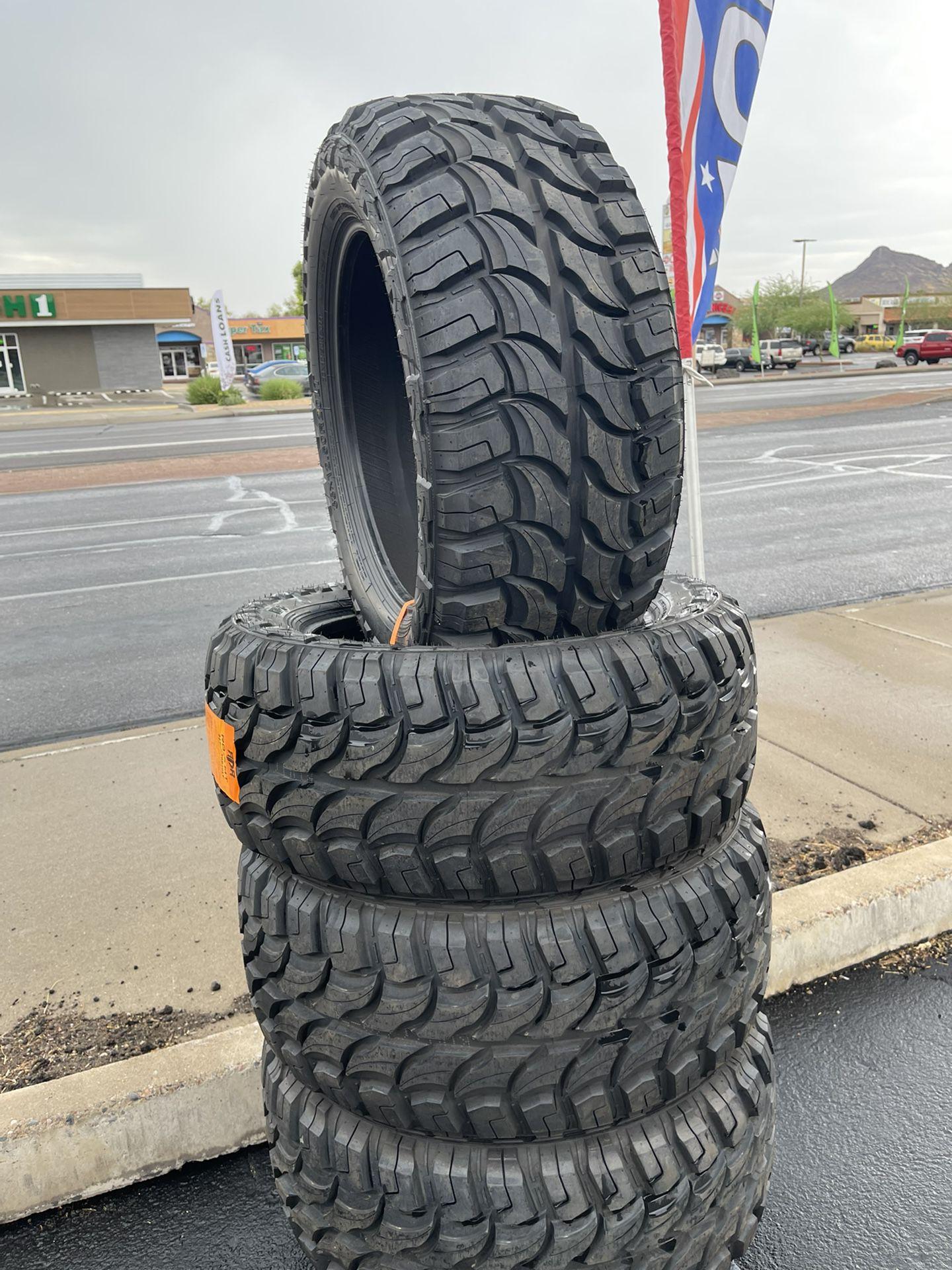 35x12.50r20 Mud Terrain Tires