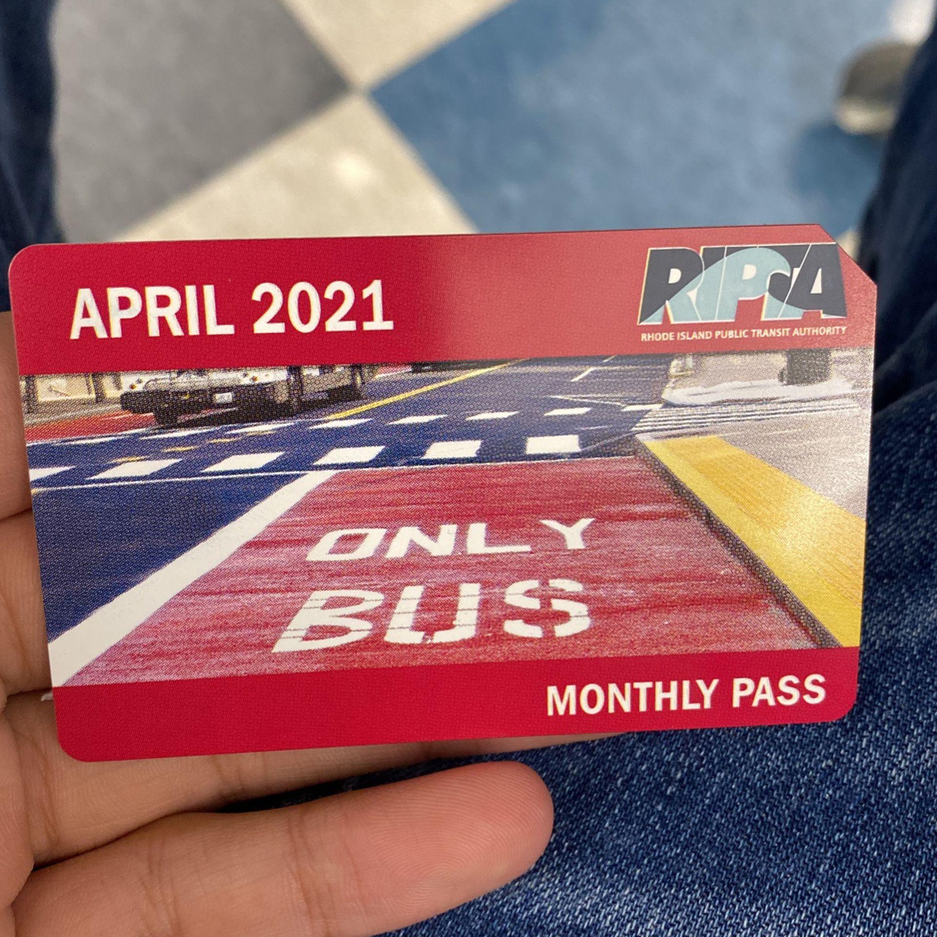 Monthly Ripta Buss Pass April 2021