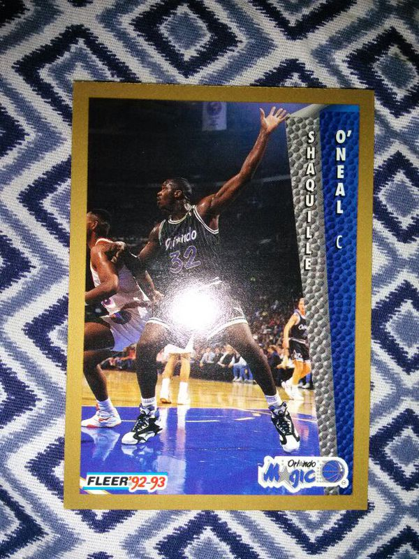 9293 Fleer Shaquille Oneal Rookie Card For Sale In Stuart Fl Offerup