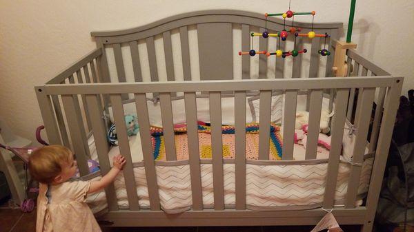 Graco Convertible Grey Crib