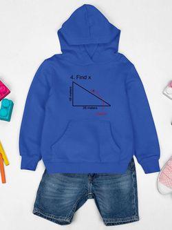 Smartprints Task: Find The X Hoodie Youth's -SmartPrintsInk Designs Royal Size L Thumbnail