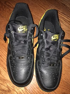 Air Force Ones Low Top Blk Yllw For Sale In Raleigh