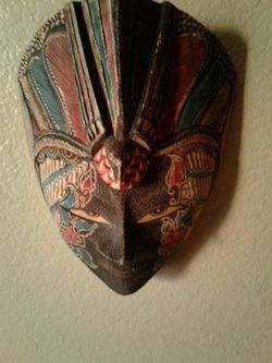 Decorated wooden mask Thumbnail