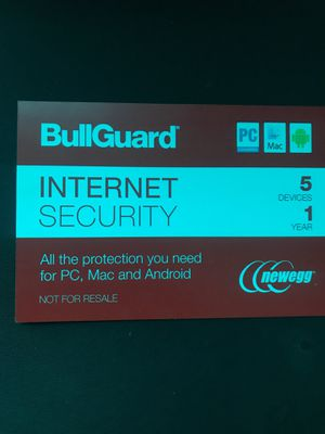 Bullguard 1 year Internet Security (add up to 5 devices; 1 code) for Sale in Tampa, FL