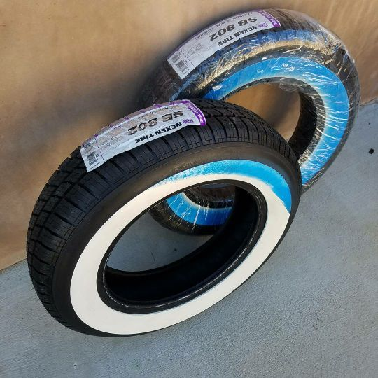 """Brand new 15"""" Wide White Walls Whitewall Tires 165/80R15 ..."""