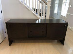 Mid century modern credenza. Expresso for Sale in Arlington, VA