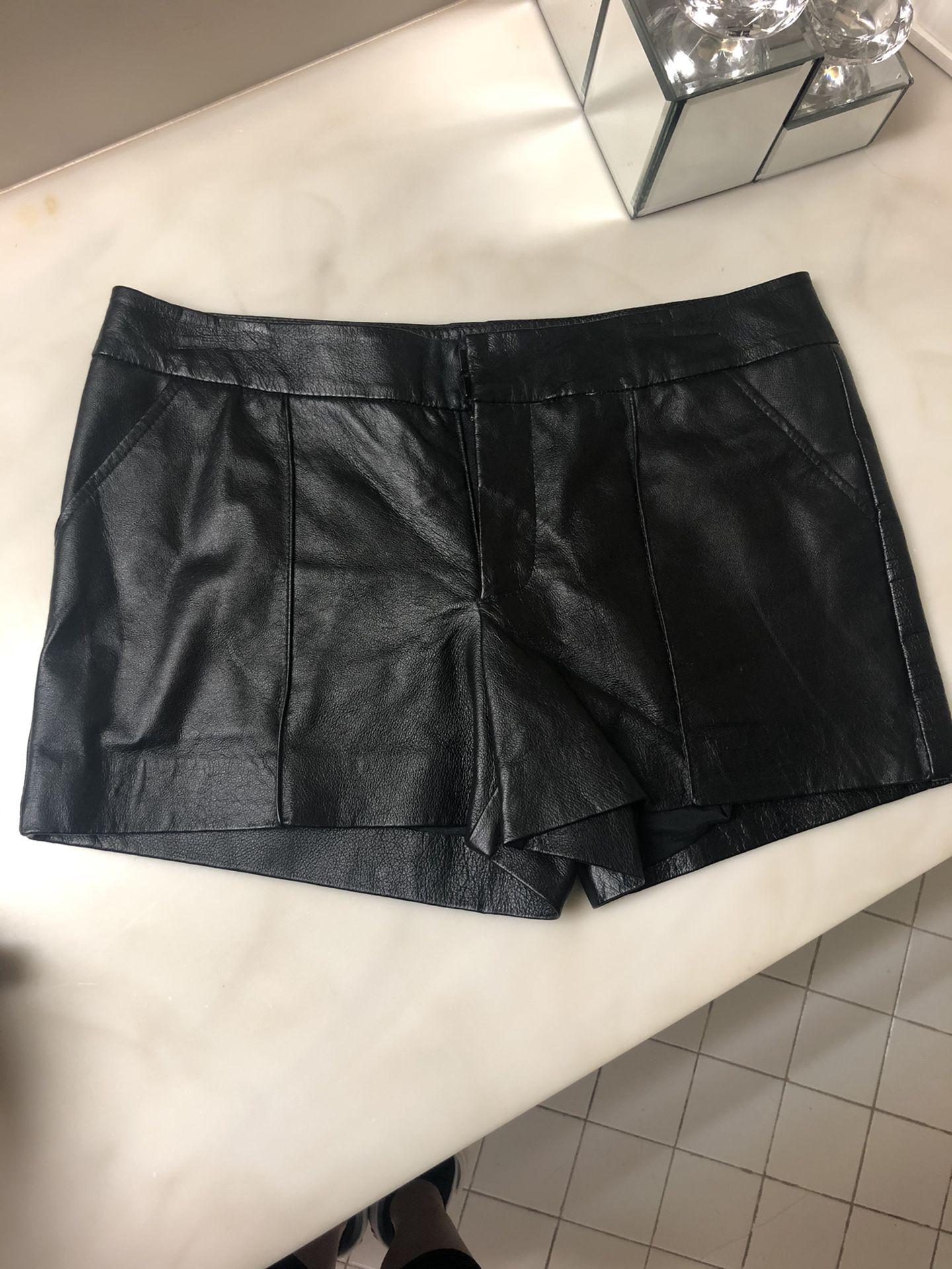 Bebe Leather Shorts